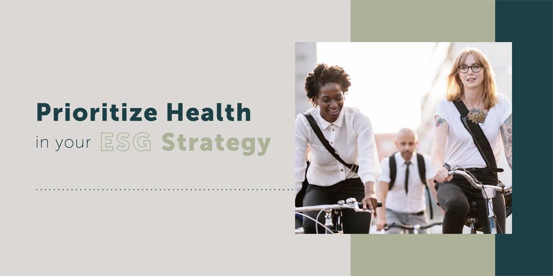 """<span class=""""highlight"""">ESG</span>戦略で健康を優先する"""